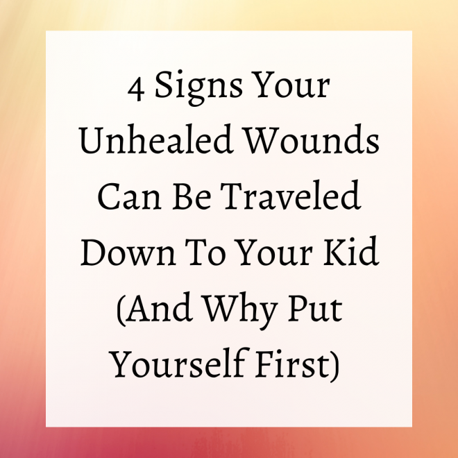 signs of unhealed wounds